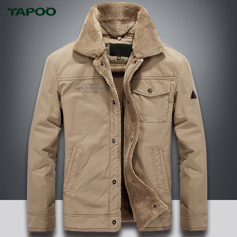 TAPOO Warm Mens Parkas Mens Jacket Casual Outerwear Warm Winnter Coat Men Overcoat Outerwear With Larger Size 4XL ...
