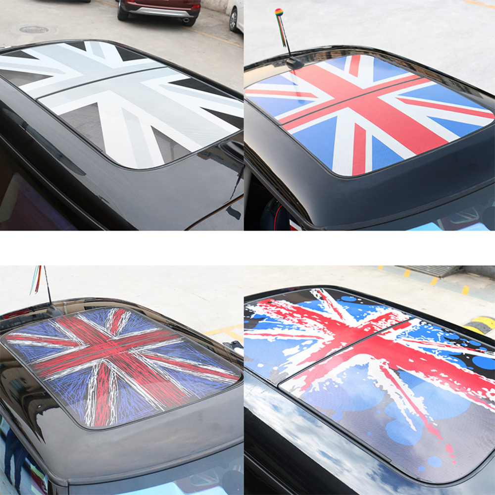 Auto Sunroof Roof Sunshade Shade Stickers Decals Decoration Car Styling For MINI Cooper JCW S One+ F54 F55 F56 F60 Accessories 4pcs set car door handle doorknob cover sticker decal decoration for bwm mini cooper jcw one f54 f55 f60 car styling accessories