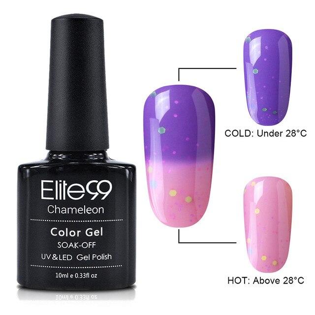 Elite99 Neueste 10 ml Käse Stimmung Temperatur Farbe Ändern UV LED Gel Soak Off Gel Farbwechsel Nagellack