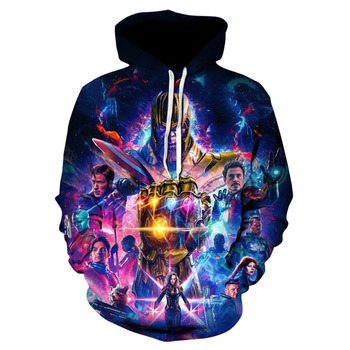 The latest marvel movie the avengers 4 hoodie jacket, spring and fall fashion casual hoodies for men and women