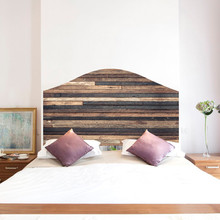 Creative Retro Wood Grain Bed Head Wall Sticker Self-adhesive Bedroom Background Home Decor Removable Waterproof Art Decal Hot