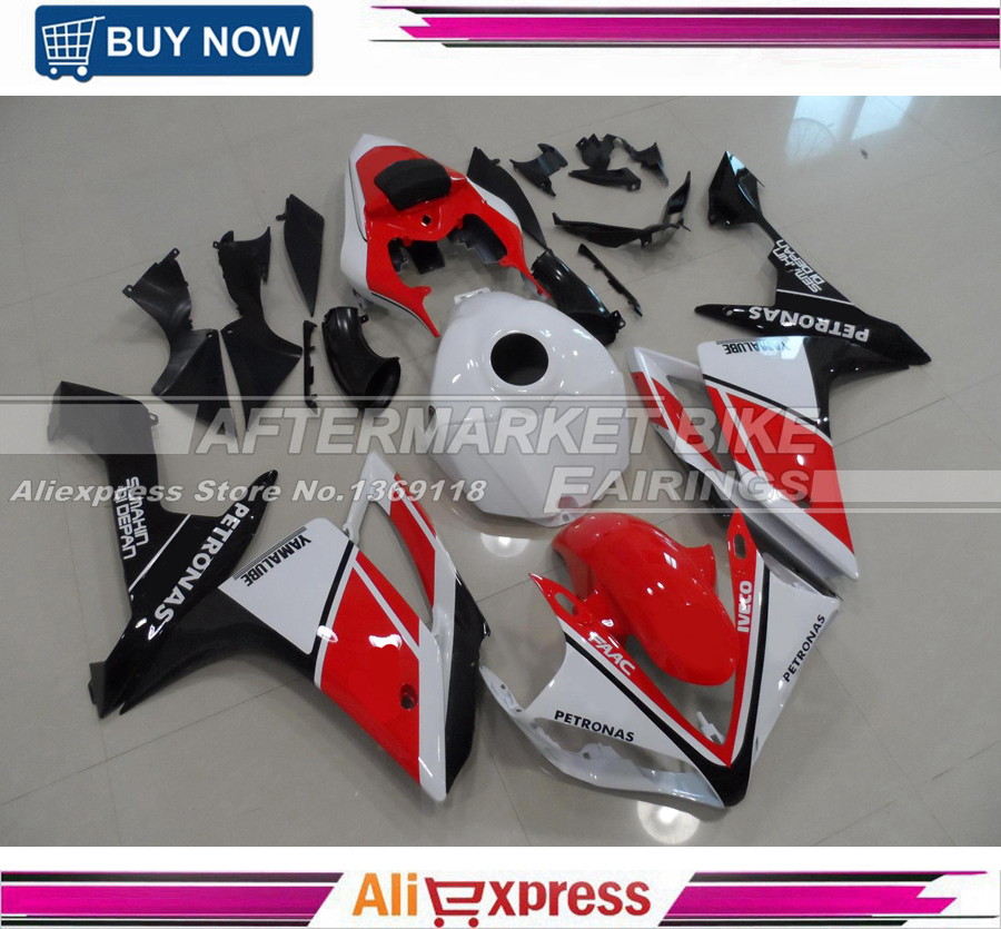 Plastic Injection Fairings For Yamaha R1 Year 2007 2008 YZF 07 08 ABS Motorcycle Fairing Kit Body kit Red Black White Carenes hot sales yzf600 r6 08 14 set for yamaha r6 fairing kit 2008 2014 red and white bodywork fairings injection molding