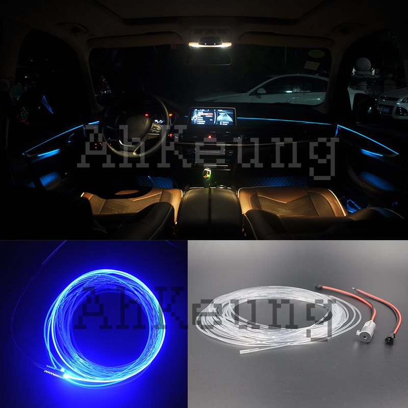 For Chrysler 300 300c Metal Head High Fiber Optic Lights Interior Ambient Light Cold Guide Belt In Car Embly From