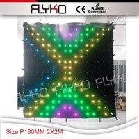 Freies verschiffen 2 mt * 2 mt flexible geführte video vorhang|Bühnen-Lichteffekt|Licht & Beleuchtung -