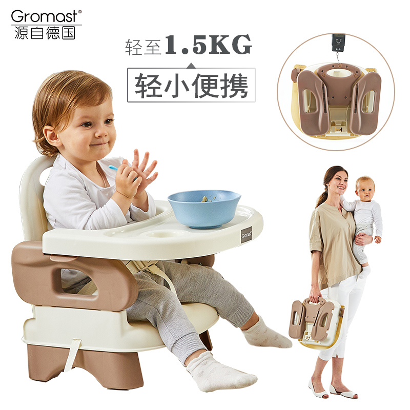 Gromast Portable Baby Dining Chair, Children Dining Table, Chair, Multi-function Baby Eating Folding Seat kids princess costumes tulle party toddler girl children formal clothes 2 3 4 5 6 year birthday dress for girls birthday outfits