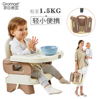 Gromast Portable Baby Dining Chair, Children Dining Table, Chair, Multi function Baby Eating Folding Seat