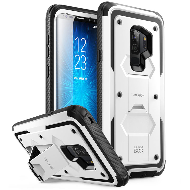 Shock Reduction Case for iPhone Xs Max 6.5 inch i-Blason 2018 Black iPhone Xs Max Case, Built in Screen Protector Heavy Duty Protection Armorbox Kickstand Full Body