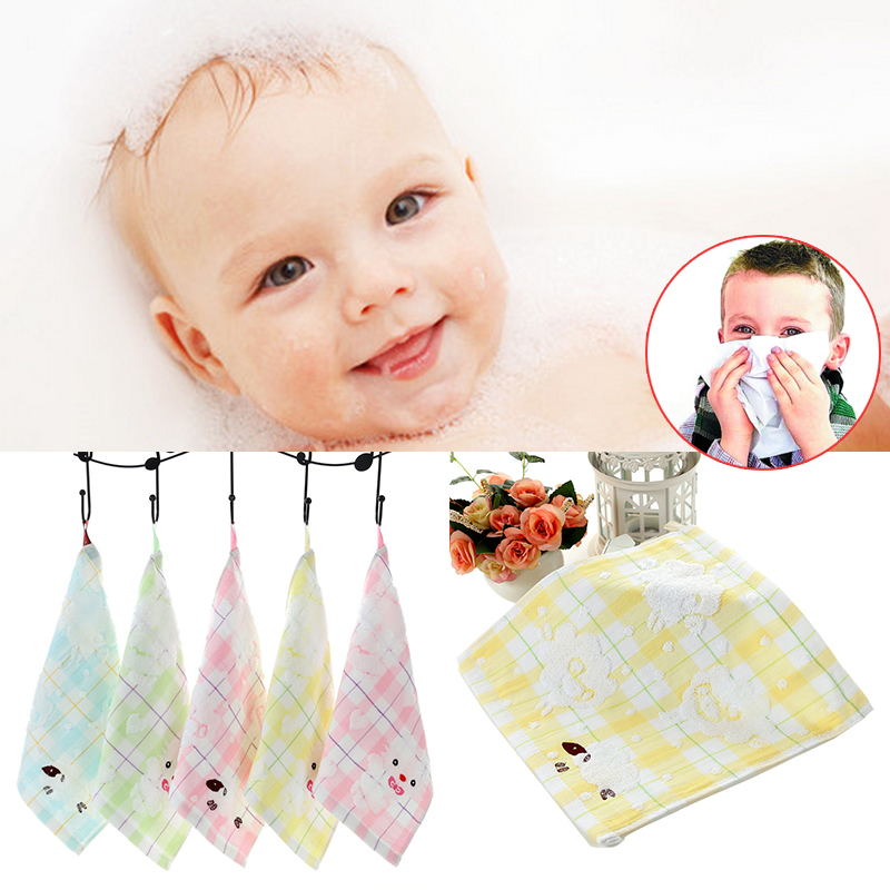 Hot sale Kids Washcloth Double Layer Face Towels Baby Cotton Hand Towel Cute Cartoon Wipe For Children Feeding Bathing
