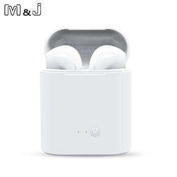Gorąca Sprzedam M amp J i7s TWS Mini Wireless Bluetooth słuchawki stereofoniczne słuchawki douszne z mikrofonem do ładowania dla wszystkich inteligentnych telefonów tanie i dobre opinie M J MELODY JOURNEY Bezprzewodowy Dla telefonów komórkowych HiFi Headphone iPod Sport wspólne słuchawki 8-24000Hz