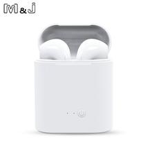Gorąca Sprzedam M amp J i7s TWS Mini Wireless Bluetooth słuchawki stereofoniczne słuchawki douszne z mikrofonem do ładowania dla wszystkich inteligentnych telefonów tanie tanio M J MELODY JOURNEY Bezprzewodowy Dla telefonów komórkowych HiFi Headphone iPod Sport wspólne słuchawki 8-24000Hz