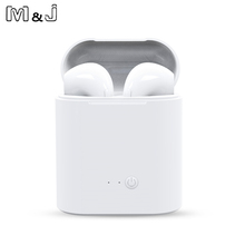 Hot Sell M amp J i7s TWS Mini Wireless Bluetooth Earphone Stereo Earbud Headset With Charging Box Mic For All Smart phone cheap M J MELODY JOURNEY For Mobile Phone HiFi Headphone For iPod Sport Common Headphone 8-24000Hz Hybrid technology None 32Ω
