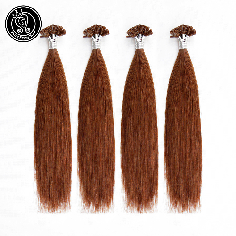 Fairy Remy Hair Remy Human Fusion Fusion Hair Double Drawn Nail U Tip Pre Bonded Capsules Human Hair Extensions 0.8g/s 14 Inch
