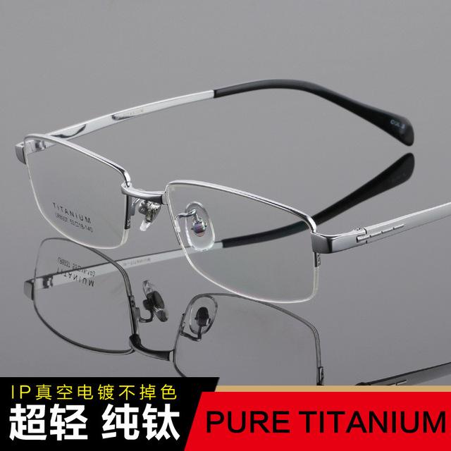 Óculos de titânio quadro de óculos de titânio puro quadro masculino miopia óculos de leitura prescrição armações de óculos Big Rosto TG8937