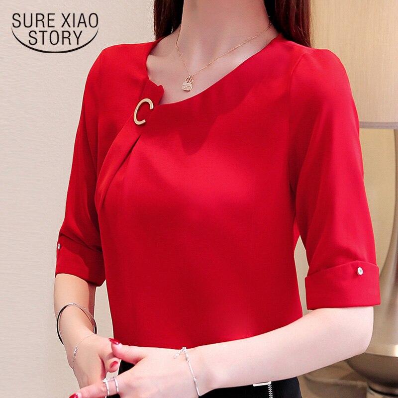 summer women   blouses   2019 short sleeve chiffon women   blouse     shirt   women   shirts   plus size tops womens tops and   blouses   3755 50