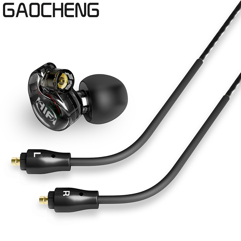 New Hybrid In Ear wireless Earphone HIFI DJ Monito Running Sport Earphones bluetooth headphone Earplug Headset Earbud original senfer dt2 ie800 dynamic with 2ba hybrid drive in ear earphone ceramic hifi earphone earbuds with mmcx interface