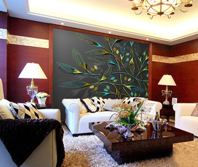 Custom Large 3D Photo Wallpaper Murals Modern Abstract Painting Living Room Bedroom Meeting Room TV Sofa Background Wall Decor shinehome large custom wahable wallpaper rock n roll music 3d cafe bar modern living room photo wall murals home contact paper