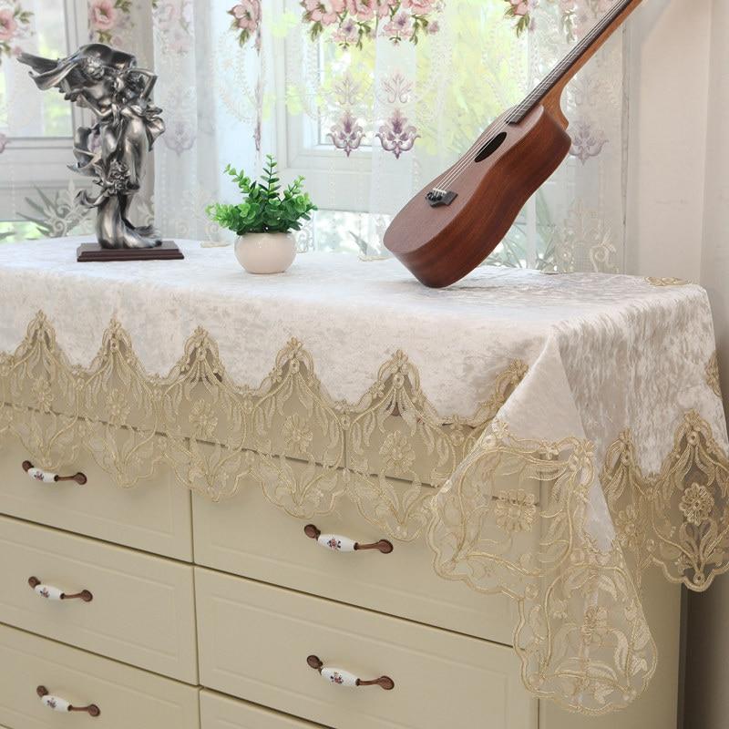 Vintage Embroidered Floral  Dresser Table Mantle Piano Scarve