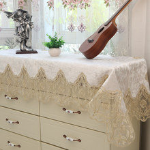 Lace piano cover Europiano scarf Tablecloth Hot Sale Cover towel The embroidery cloth Table flag table runner Edge Textile