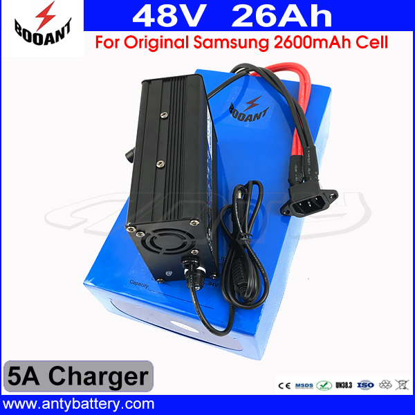 48V 26AH Electric Bike Battery For 48V eBike Motor 1800W Lithium Battery 48V With 5A Charger 50A BMS Use Original 18650 Cell diy 48v 1000w samsung cell electric bike lithium battery 48v 30ah li ion 18650 battery with 30a bms for e bike battery