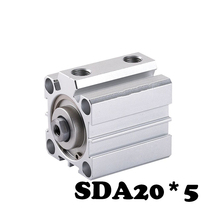 SDA20*5 Standard cylinder thin SDA Series Electronic Components 20mm Bore 5mm Stroke Pneumatic Cylinder