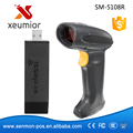 32 Bit Wireless Barcode Scanner  Handheld USB  Wireless 1d  Barcode Reader Indoor Long Range Pos Barcode Reader SM-5108R