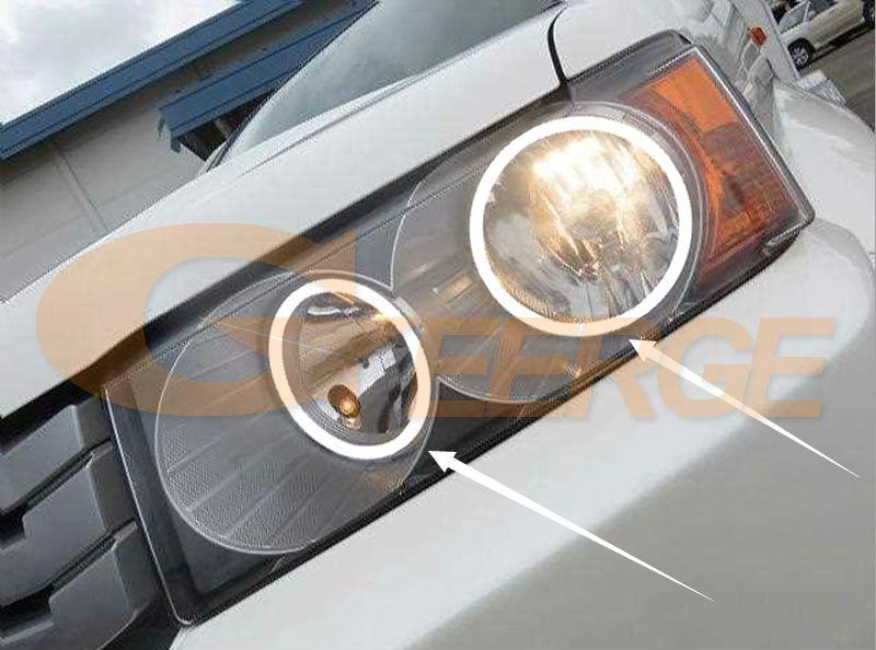 За Honda Crossroad 2008 2009 2010 Отлични ангелски - Автомобилни светлини - Снимка 2