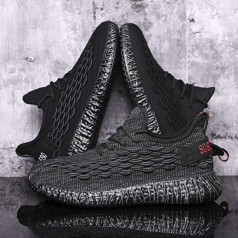 Original New Arrival Running Shoes Men Sneakers Knitted Fly Ultras Stability Outdoor 350V2 Real Boost Kanye Max Size European 44