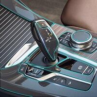 안티 스크래치 지우기 자동차 인테리어 transparence 필름 중앙 콘솔 패널 키트 장식 보호 스티커 bmw x3 g01 2018|자동차 인테리어 스티커|자동차 및 오토바이 -