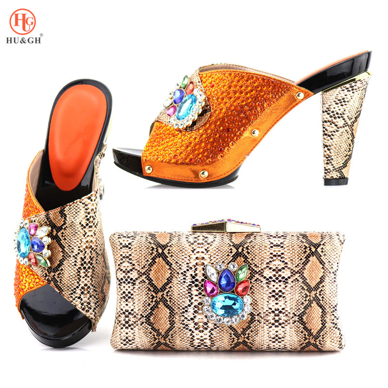 2018 Orange Shoes and Bag To Match Italian Matching Shoe and Bag Set African Wedding Shoes and Bag To Match for Parties Wedding doershow green shoes and bag to match italian matching shoe and bag set african wedding shoes and bag to match for party sjcc1 3