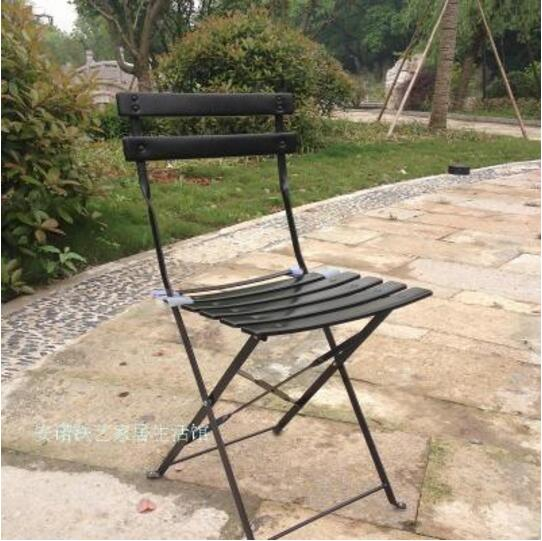 Outdoor leisure Iron Balcony chairs Coffee table Folding Garden Chairs