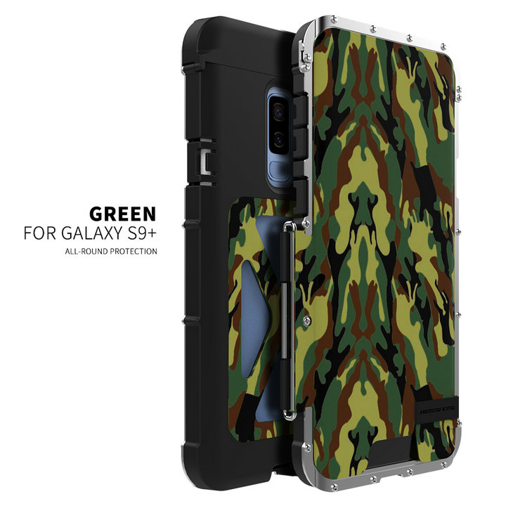 R JUST Iron Man 360 Full Shockproof Cover Phone Bracket Stand Case for S9 Plus Steel
