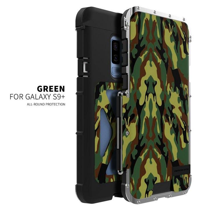 R-JUST fer homme 360 complet antichoc couverture téléphone support support étui pour S9 Plus en acier Flip étui pour samsung Galaxy S9