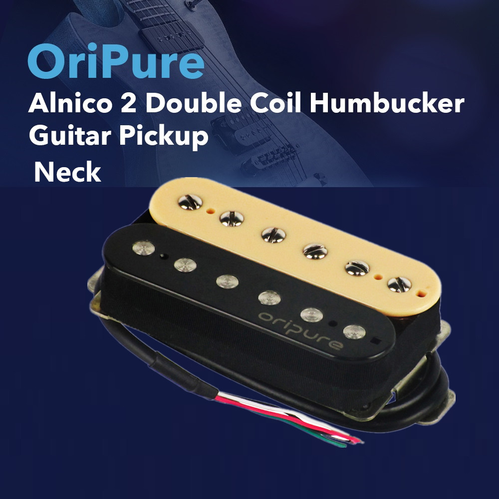 OriPure Vintage Alnico 2 Humbucker Pickup Double Coil Electric Guitar Neck Pickup Zebra Color Guitar Parts