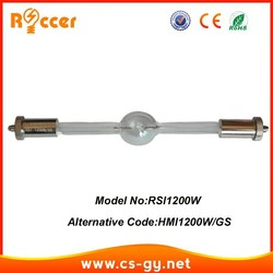 ROCCER طويلة HMI 1200 المرحلة مصابيح المعادن هاليد لمبة لاستبدال تتبع بقعة ضوء HMI1200W/GS hmi1200