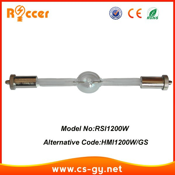 ROCCER Long HMI 1200 stage lamps Metal Halide Bulb for replacement follow spot light HMI1200W/GS hmi1200 harbo hmi2500w s stage light lamp hmi 2500 s short metal halide bulb hti2500w dysprosium lamps hmi2500 page 1