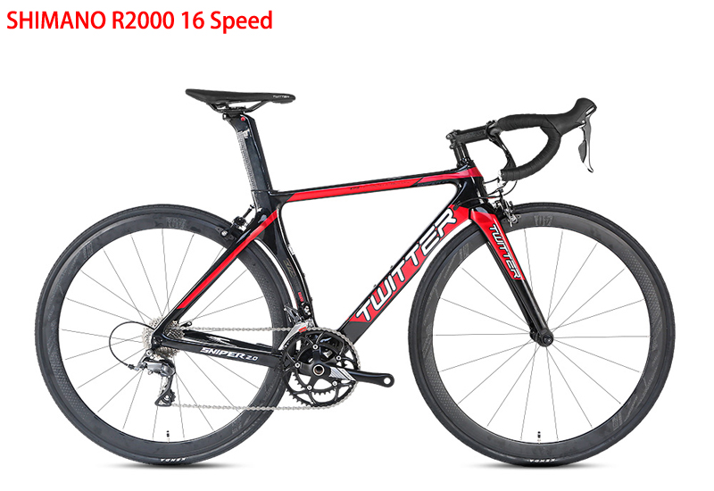 HTB1ucvUVCzqK1RjSZPcq6zTepXaa TWITTER Carbon Road Bicycle 16/22Speed Road Bike For R2000 105/5800 R7000 Components High quality