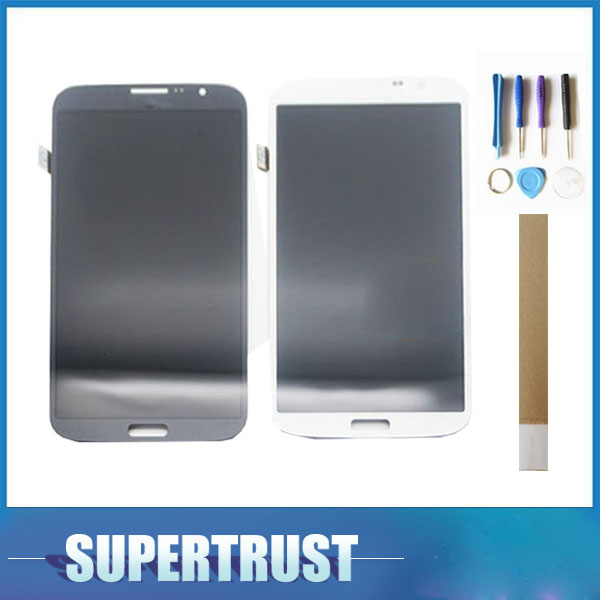 Black White 6.3 Inch For <font><b>Samsung</b></font> Galaxy Mega 6.3 <font><b>i9200</b></font> i9205 LCD Display With Touch Sensor Glass Digitizer Assembly image