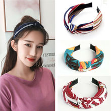 Girls Elastic Hair Bands Top Knot Turban Flower Headbands for Women Bow Head US