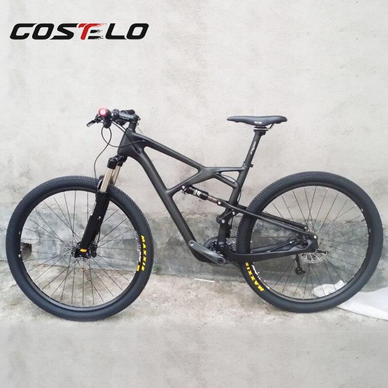 COS098 Costelo 29er Suspension Bike ,full Carbon MTB Bike Suspension MTB Frame 29er Mountain Bike Frame ,carbon Frameset