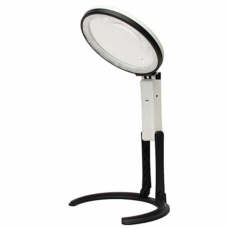 24b715968a43 Handheld Illuminated Magnifier 5X 11X Magnifying Table Portable ...