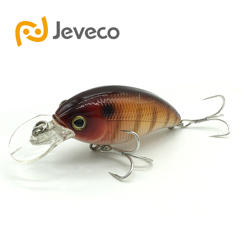 Jeveco JVC006 fishing lures,53mm/8g 0-0.8m floating Lure Crank Bait Plastic Hard Lures, Fishing Baits, Wobblers, Freshwater Fish new hard plastic fishing lures crank