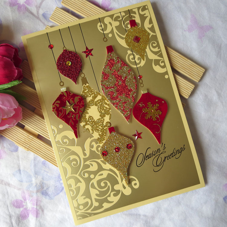 christmas new year greeting card three dimensional western style christmas handmade greeting card alluvial gold flock printing on aliexpresscom alibaba