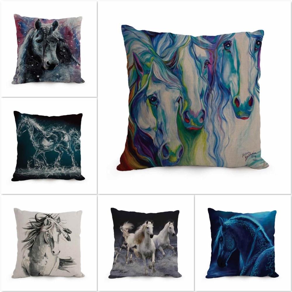 Decorative Pillow Distributors : Aliexpress.com : Buy 2016 Animal Horse Pillow Fashion Cartoon Home Decor Cotton Linen Cushion ...