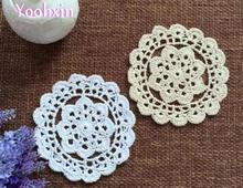 13CM Elegant cotton crocheted…