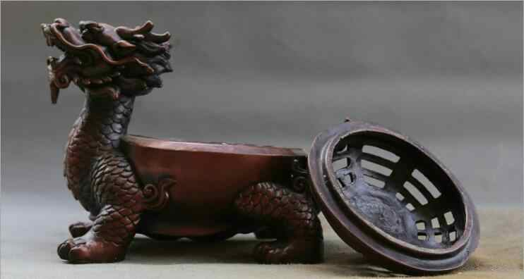 SCY 808+++Pure copper dragon turtle ornaments open cover faucet turtle lucky crafts living room home Feng Shui decorations