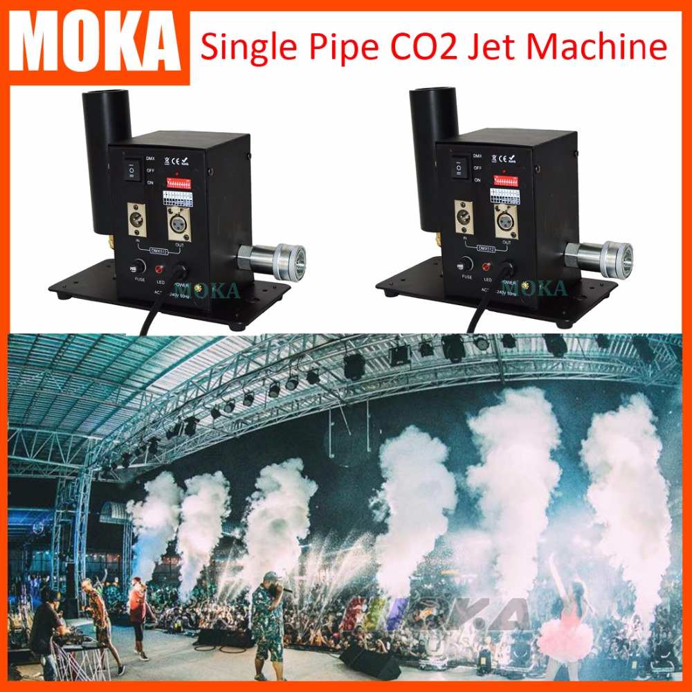 2pcs/lot Special Effects Cannon Smoke Co2 Cryo Blaster DMX Control Stage Co2 Jet