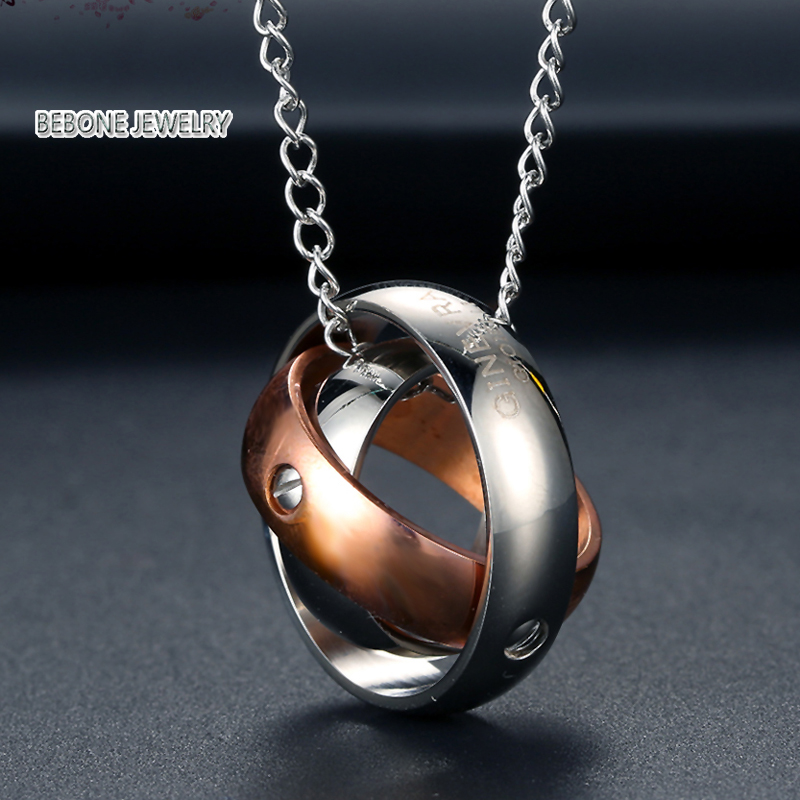 Round style stainless steel fashion men necklace pendant primary colors 316L jewelry high quality free shipping
