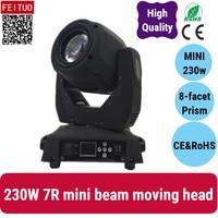 2X mini Lyre 230w 7r beam moving head lights MINI 230 beam stage light sharpy super bright leds