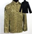 Gray Black Men's Satin Reversible Coat Novelty New Two-Face Kung-Fu Outwear Mandarin Collar Jacket Size S M L XL XXL XXXLM1040-D