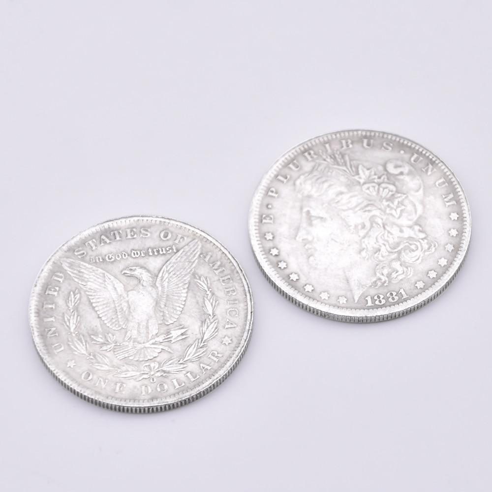 50 ชิ้นเหล็ก Morgan Dollar (Dia 3.8 เซนติเมตร) magic Tricks Close Up Street อุปกรณ์เสริม Gimmick ภาพลวงตาปรากฏ Vanish เหรียญ Magia-ใน มายากลมหัศจรรย์ จาก ของเล่นและงานอดิเรก บน   1